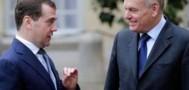 Встреча Медведева с премьером Франции