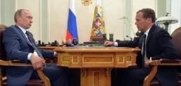 Медведев и Путин обсудили экономические проблемы